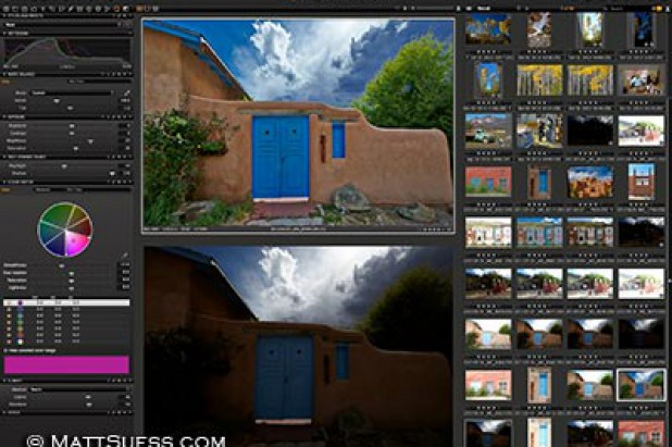 Image processing online via shared screen