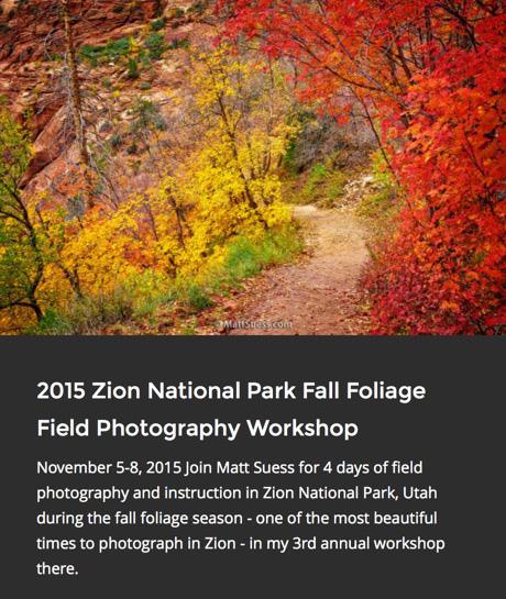 2015 Zion Fall Promo