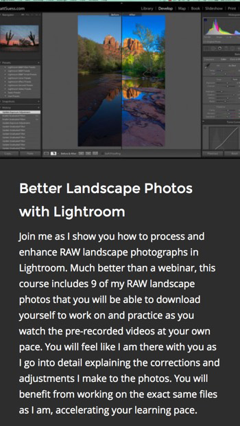 better landscape LR course